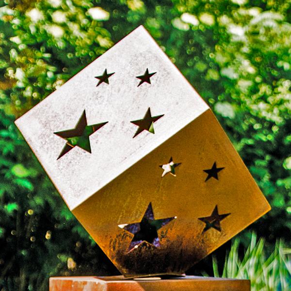 Sterne Dekorationselement Cortenstahl